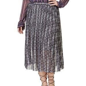 Rachel Roy snake print pleated skirt